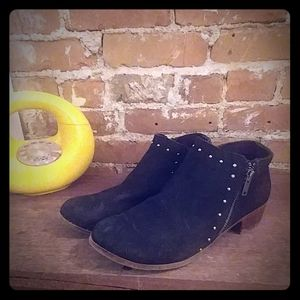 Minnetonka Black Suede Ankle Boots